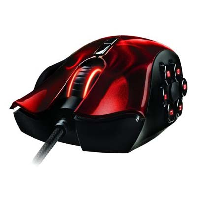 Razer Naga Hex Gaming Mouse Laser Wraith Red RZ01-00750200